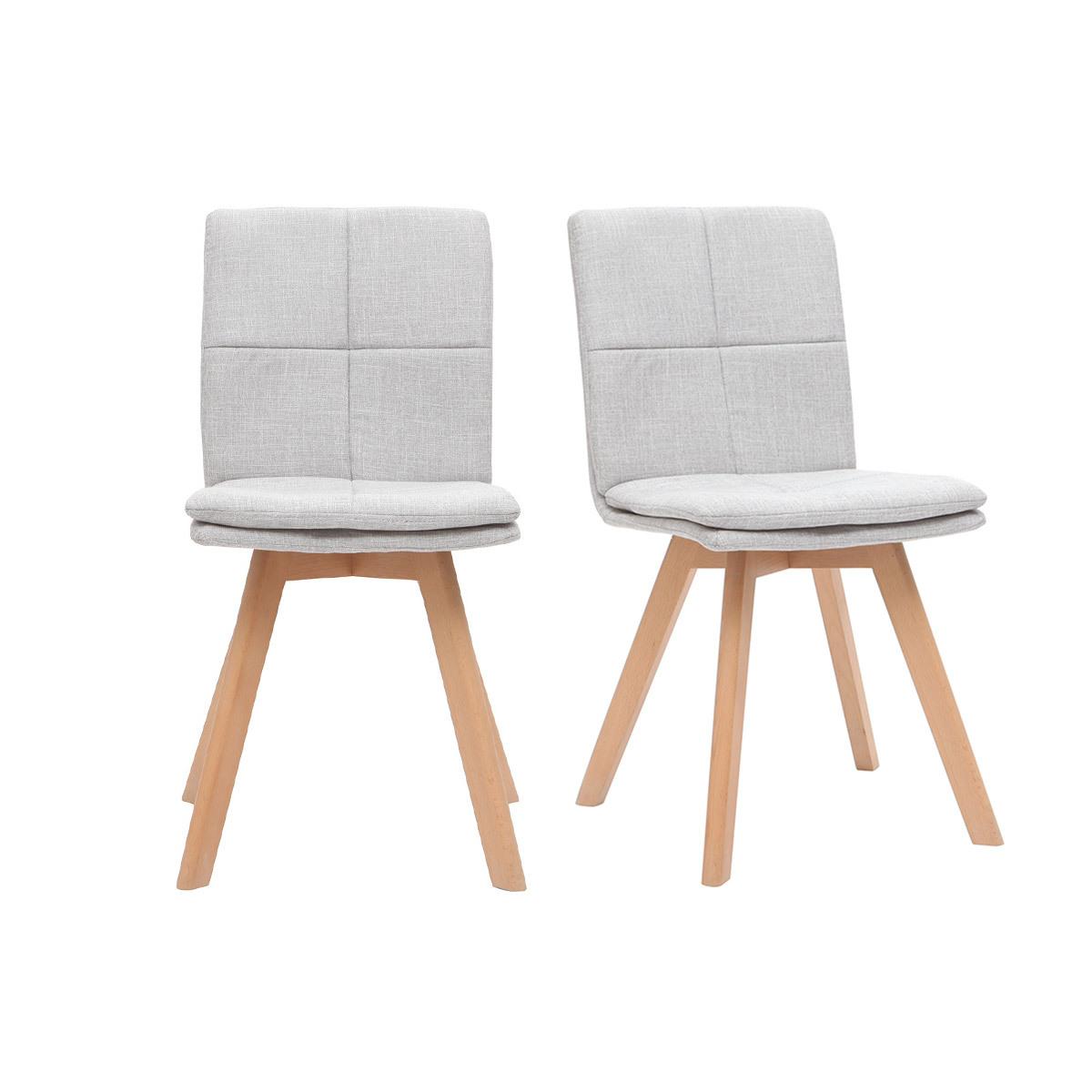 lot de chaises en tissu gris
