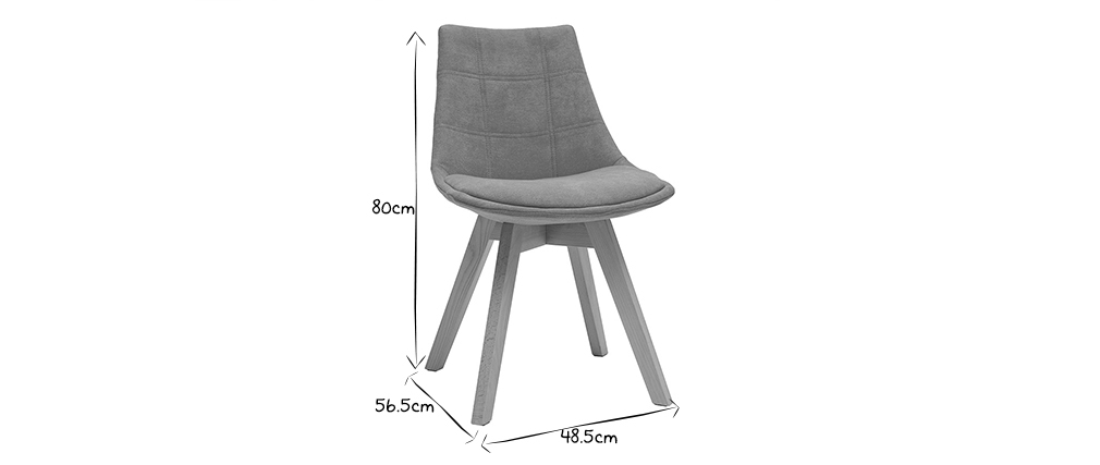 Chaises scandinaves en tissu moutarde (lot de 2) - MATILDE