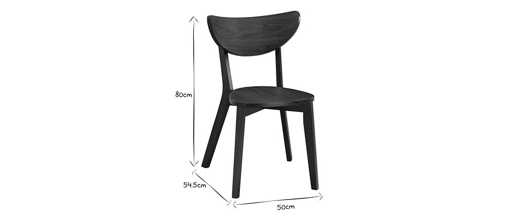 Chaises scandinaves finition noyer (lot de 2) LEENA