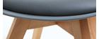 Chaises scandinaves gris et bois clair (lot de 4) PAULINE