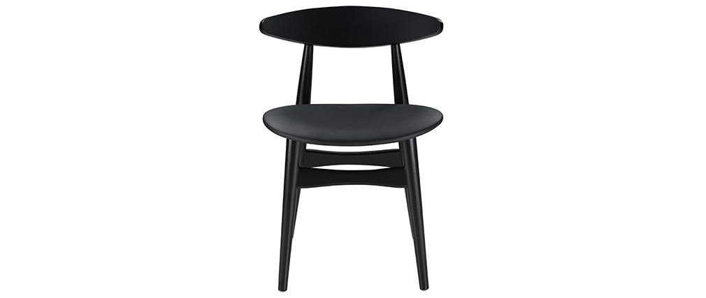 Chaises scandinaves noires (lot de 2) WALFORD