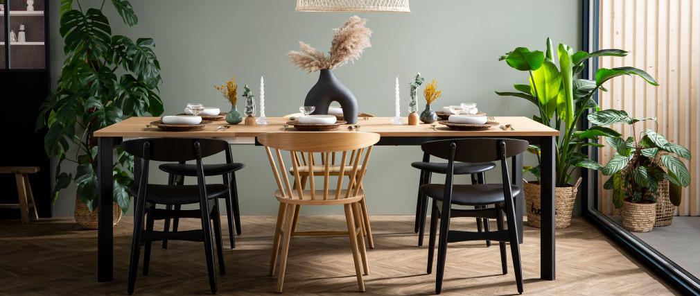 Chaises scandinaves noires (lot de 2) WALFORD