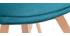 Chaises scandinaves velours bleu pétrole et bois (lot de 2) MATILDE