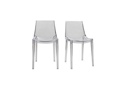 Chaises transparentes design lot de 2 YZEL