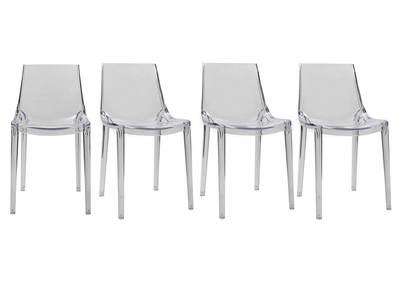 Chaises transparentes design lot de 4 YZEL