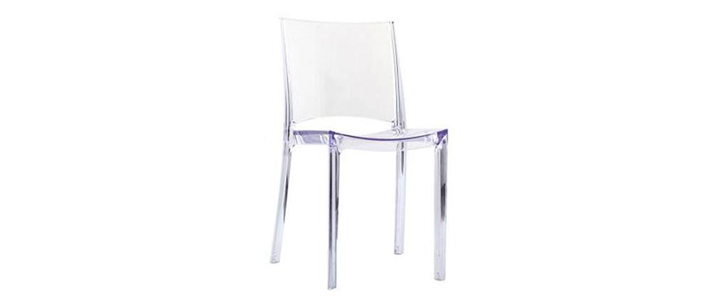 Chaises 2Kalya Transparentes De Miliboo Designlot Empilables 8OXnw0Pk