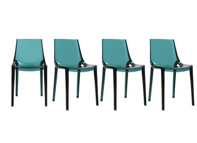 Chaises vert d'eau design lot de 4 YZEL