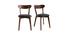 Chaises vintage bois foncé et assise noire (lot de 2) DOVE