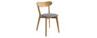 Chaises vintage chêne et assise gris chiné (lot de 2) DOVE