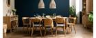 Chaises vintage chêne et assise gris chiné (lot de 2) EDITO