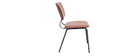 chaises vintage marron clair avec pieds métal noir (lot de 2) LAB