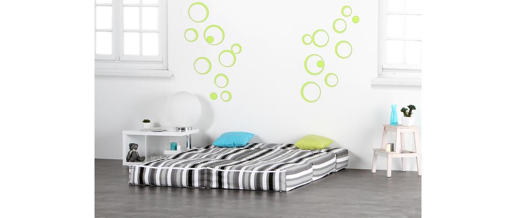 chauffeuse 2 places modulable ray noir et gris cocoon. Black Bedroom Furniture Sets. Home Design Ideas