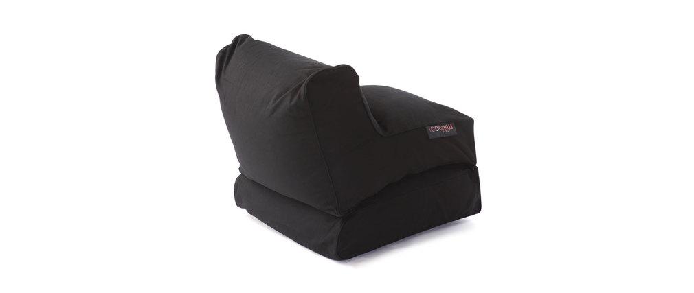 Chauffeuse convertible design coton noir milibed miliboo - Soldes chauffeuse convertible ...
