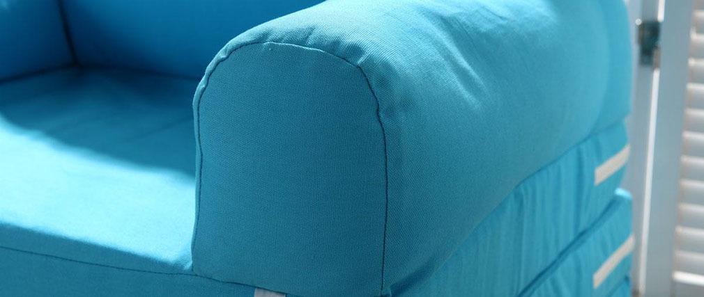 Chauffeuse convertible enfant bleu NOA