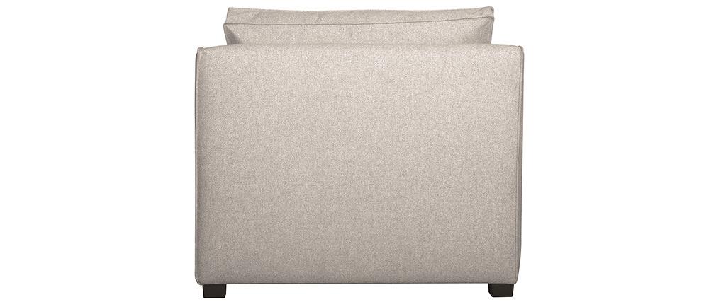 Chauffeuse design en tissu beige PLURIEL