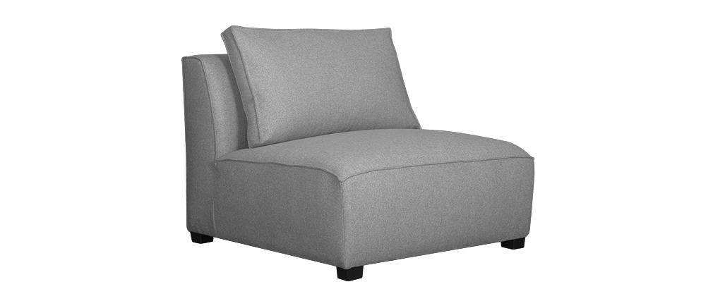 Chauffeuse design en tissu gris clair PLURIEL