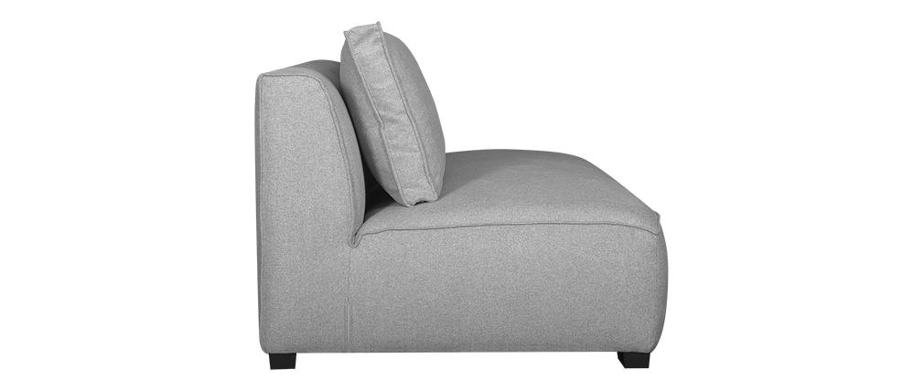 Chauffeuse double design en tissu gris clair PLURIEL