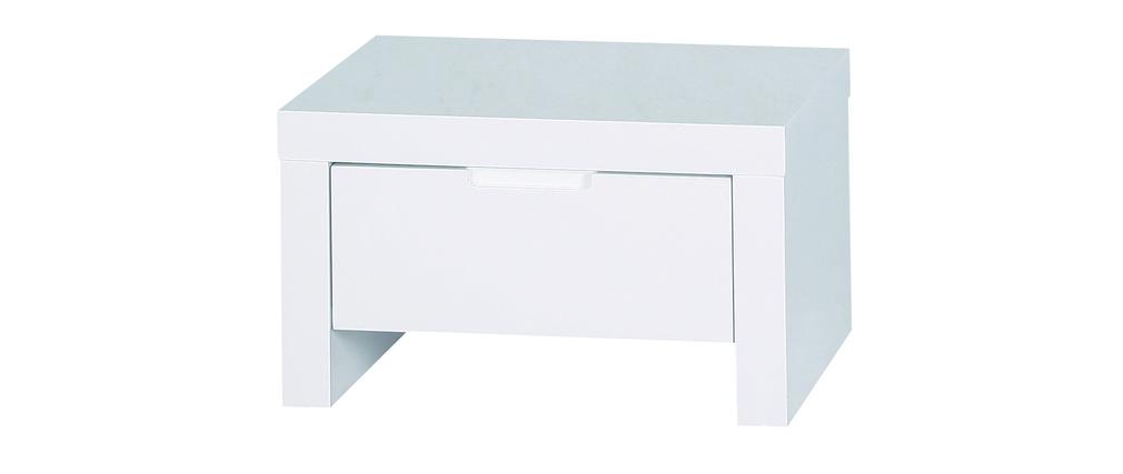 Chevet Table De Nuit Design Blanche Laqu E L A Miliboo