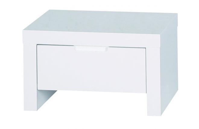 chevet table de nuit design blanche laqu e l a miliboo. Black Bedroom Furniture Sets. Home Design Ideas