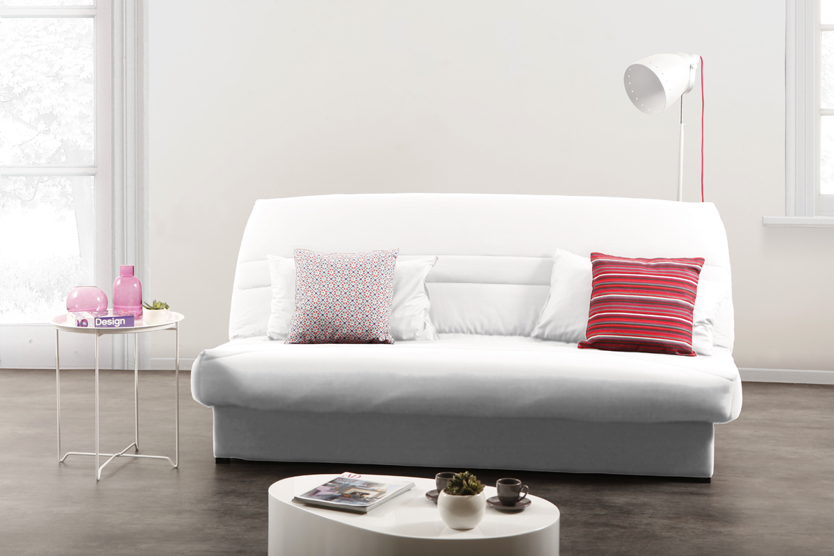 Clic clac blanc chelsea miliboo - Housse de clic clac design ...