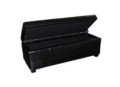 Coffre de rangement design noir LOUIS