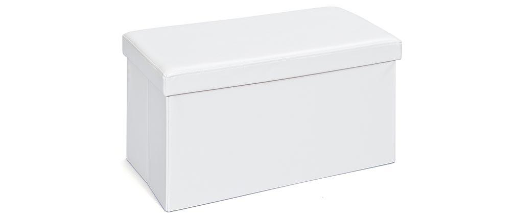 Coffre de rangement pliable design PU blanc BOXY