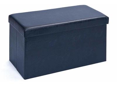 Coffre de rangement pliable design PU noir BOXY