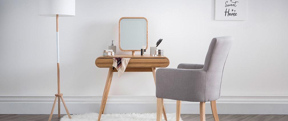 Coiffeuse design frêne avec miroir BJORG