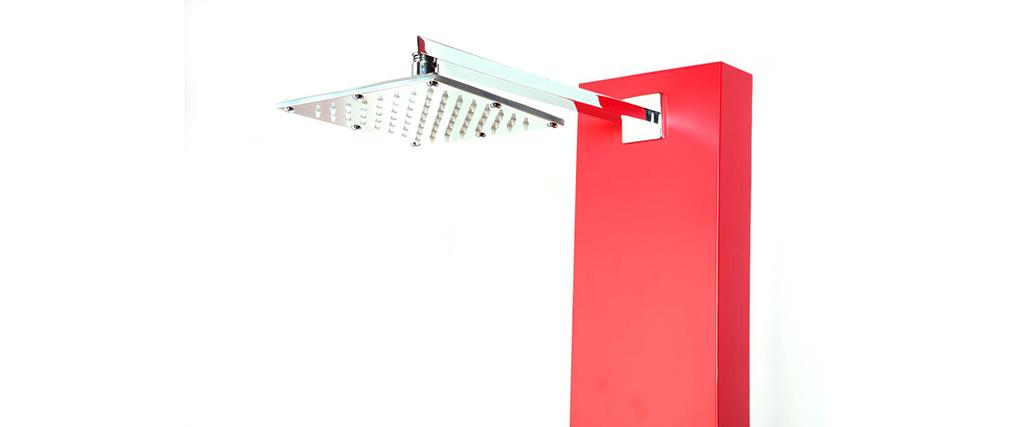 Colonne de douche hydromassante rouge TRENDY