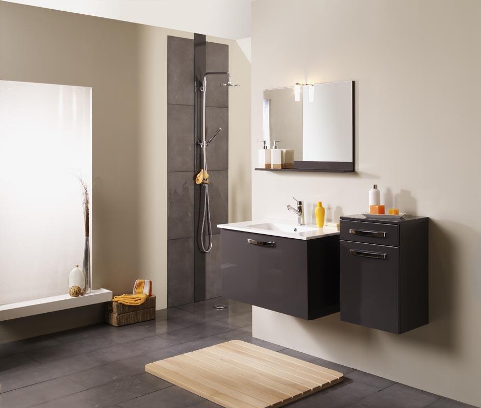 Idee salle de bain gris anthracite avec des for Colonne de salle de bain gris anthracite