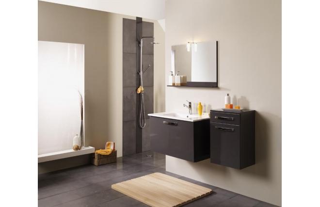 Colonne de salle de bain laqu e gris anthracite lean miliboo for Colonne de salle de bain gris anthracite