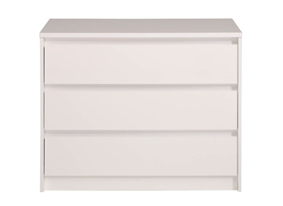 Commode 3 tiroirs blanc brillant ALPHA