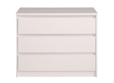 Commode 3 tiroirs blanc brillant ALPHA