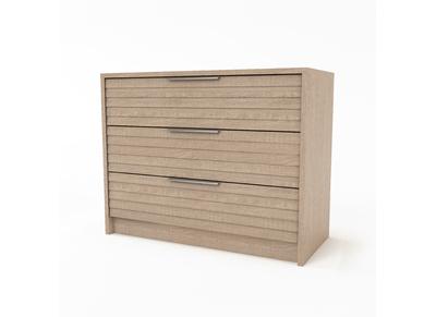 Commode 3 tiroirs design bois clair BEA