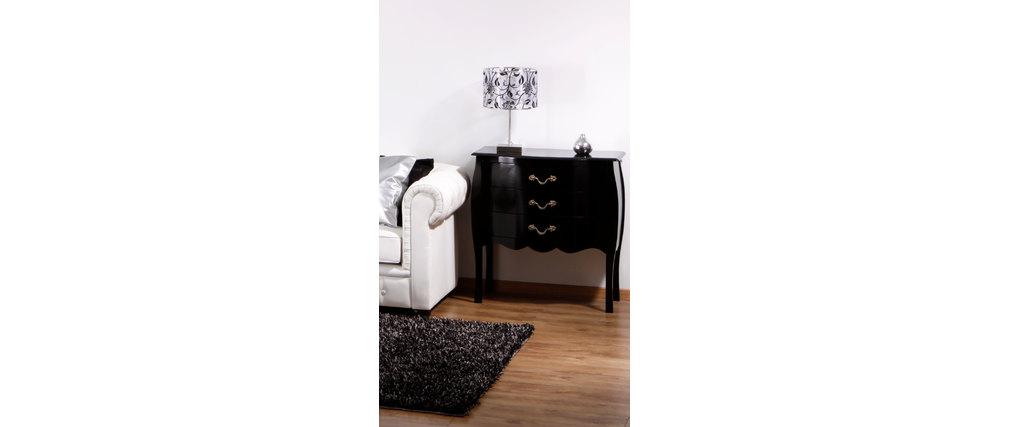 commode baroque noire 3 tiroirs louisa miliboo. Black Bedroom Furniture Sets. Home Design Ideas