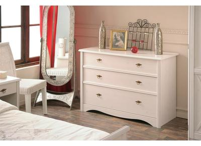 Commode design blanche 3 tiroirs BAROK