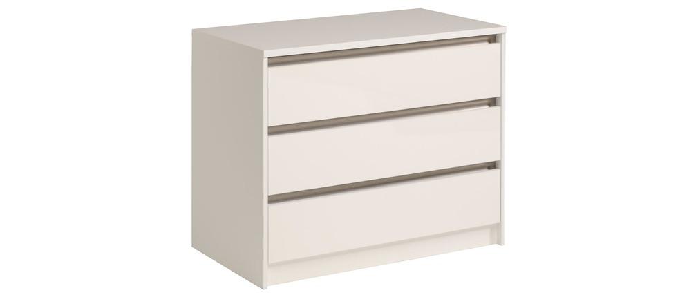 commode design blanche 3 tiroirs lumia miliboo. Black Bedroom Furniture Sets. Home Design Ideas