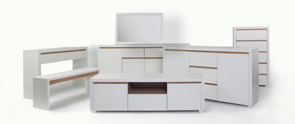 commode design blanche mat sigrid miliboo. Black Bedroom Furniture Sets. Home Design Ideas