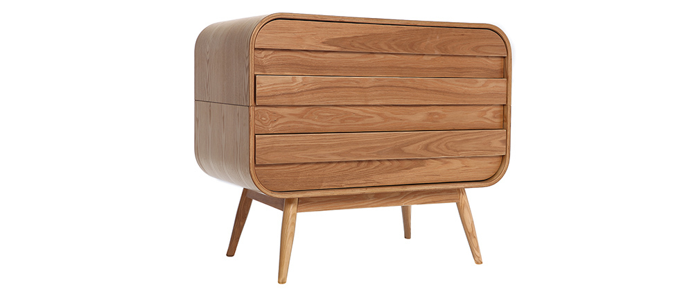 Commode design frêne 3 tiroirs BJORG