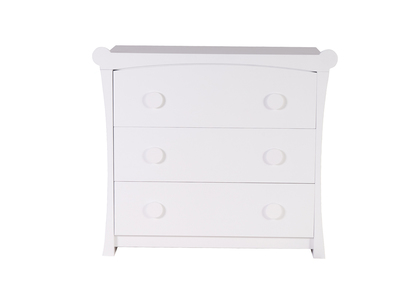 Commode enfant design MDF blanc mat CHARLOTTE