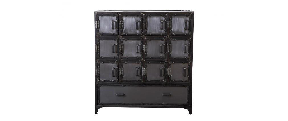 commode meubles chaussures industriel m tal factory xl. Black Bedroom Furniture Sets. Home Design Ideas