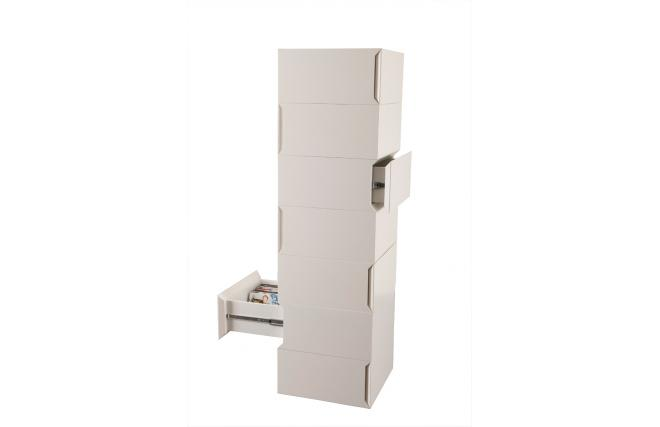 commode semainier blanche 7 tiroirs up to you by dominique david miliboo. Black Bedroom Furniture Sets. Home Design Ideas
