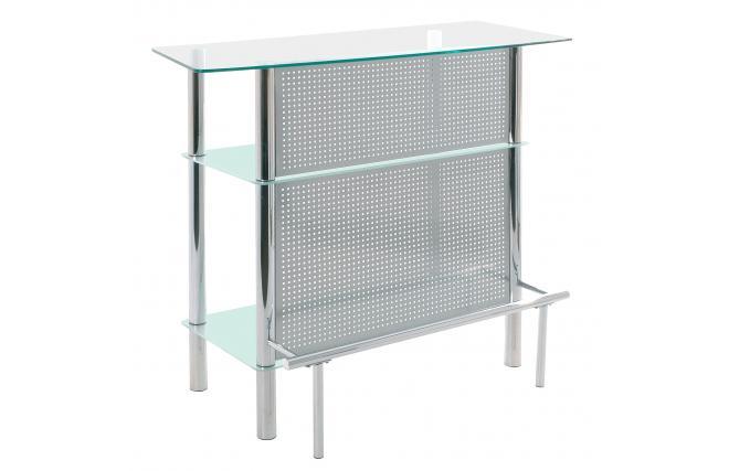 Comptoir de bar meuble de bar acapulco en acier chrom for Comptoir bar meuble