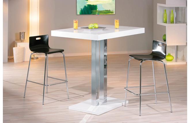 Ber ideen zu bartisch mit hocker auf pinterest - Table bar blanc laque ...