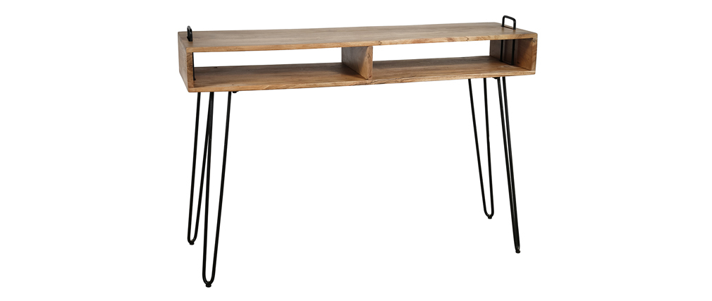 Console avec rangements en bois d