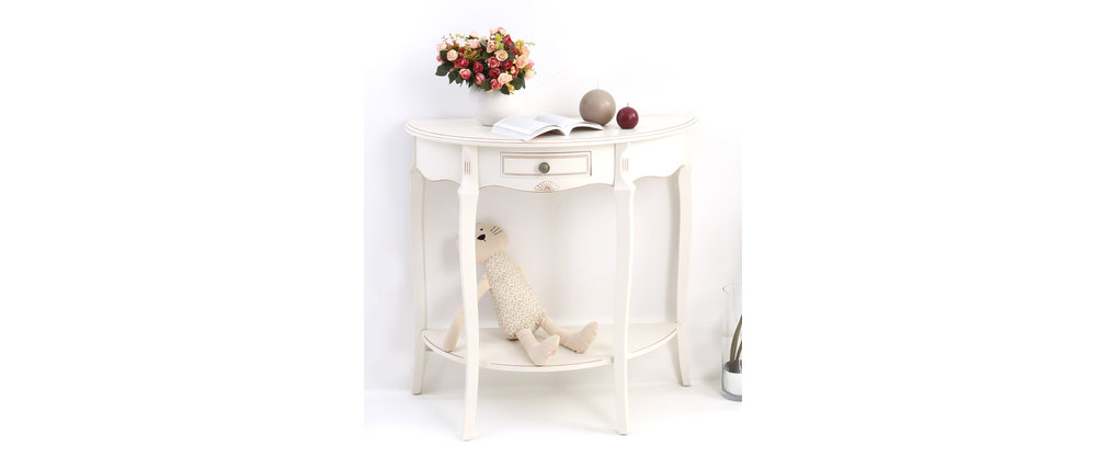 Console baroque blanche BIANCA