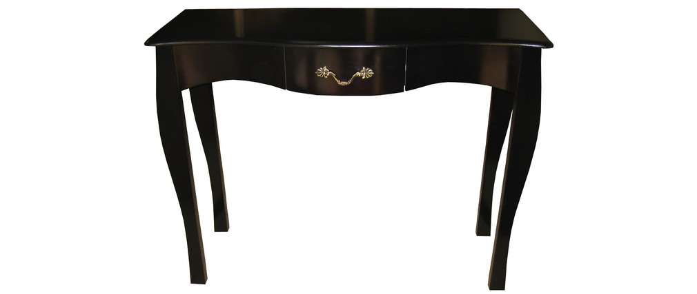 console baroque noire 1 tiroir 102 cm louisa miliboo. Black Bedroom Furniture Sets. Home Design Ideas