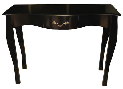 Console baroque noire 1 tiroir 102 cm Louisa