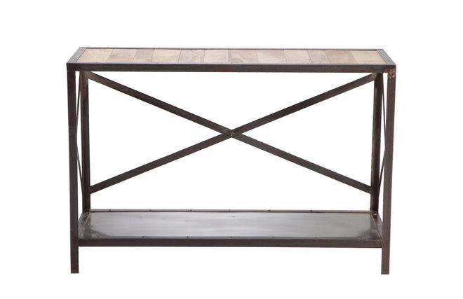 Console bois massif et métal industrielle ATELIER Zoom # Console Industrielle Métal Et Bois Atelier