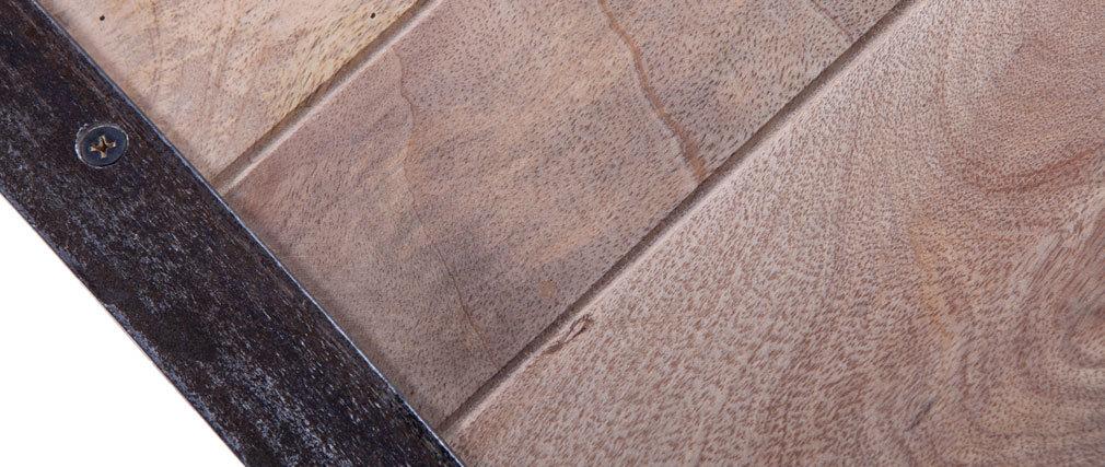 Console bois massif et métal industrielle ATELIER Miliboo # Console Industrielle Métal Et Bois Atelier